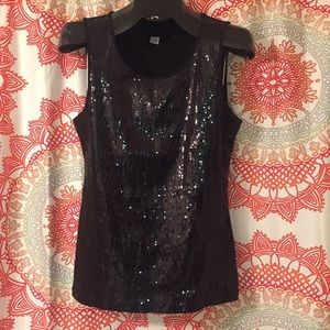 Style & Co. M Sequin Tank Top